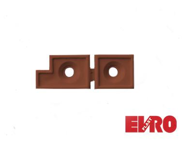 Соединитель импоста 17х25 для дверной сетки коричневый