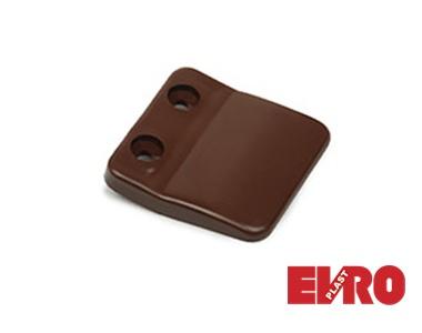 Ручка для дверной сетки плоская 17х25 коричневая
