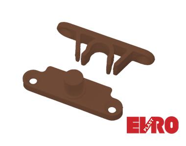Защелка МС 10х20 коричневая