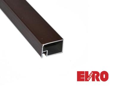 Профиль для москитной сетки 17х25 дверной коричневый