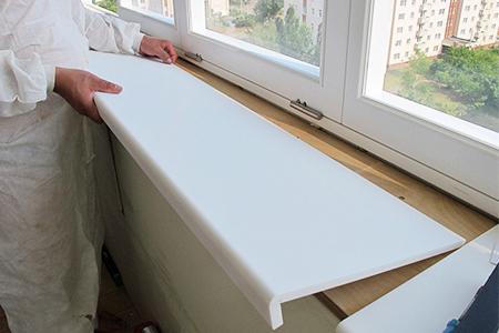 Как установить пластиковый подоконник